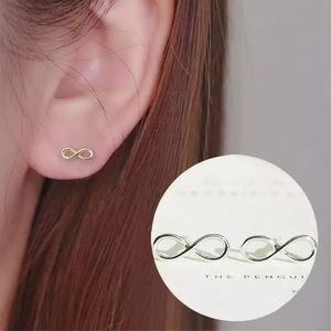 Infinity stud earrings- gold